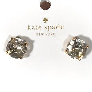 kate spade big diamond gold stud earrings